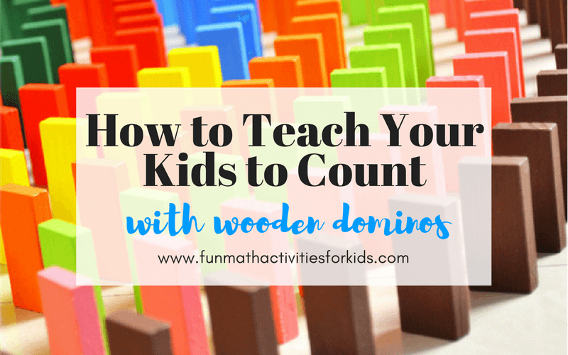 How to teach your kids to count with Wooden Dominos