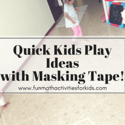 Quick Prep Masking Tape Crafts for Kids Play