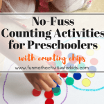 No Fuss Counting Activities for Preschoolers with Counting Chips