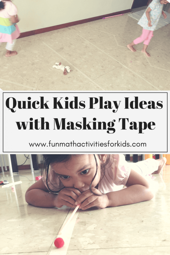 Quick Prep Play Ideas with Masking Tape