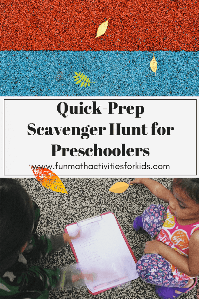 Quick Prep Scavenger Hunt for Preschooler