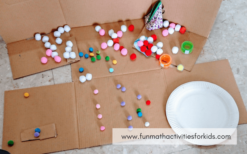 Counting Games for Preschool - pompoms