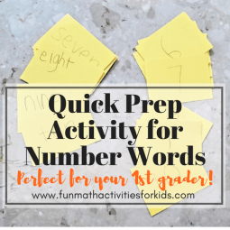 Quick Prep Activities for 1st Grade with Number Words
