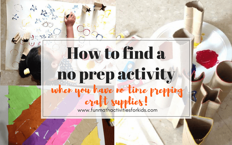 No Prep Activities for Kids, When You Have No Time Prepping