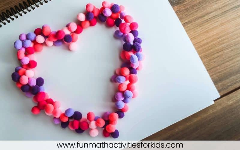 Heart pompoms craft ideas
